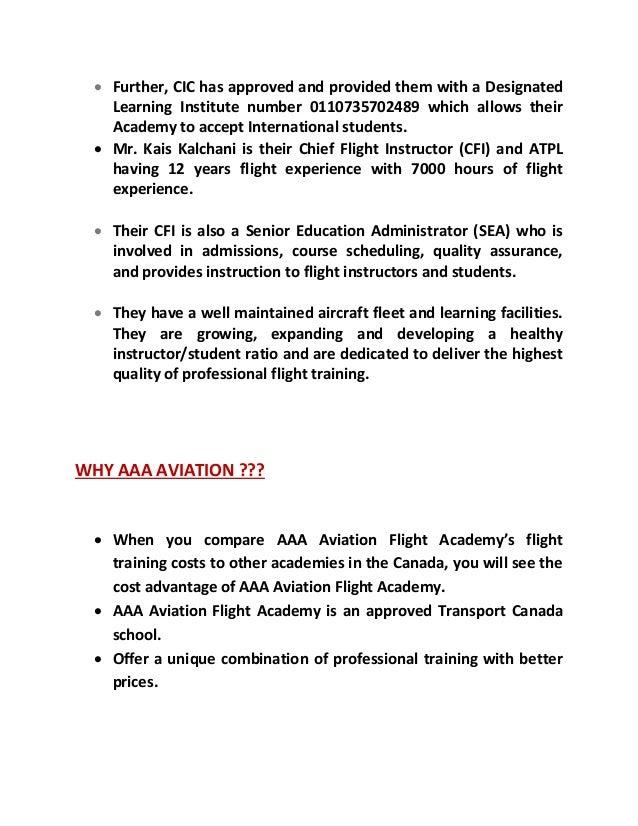 Aaa aviation flight academy