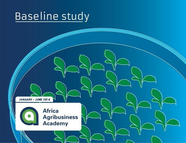Baseline study  JANUARY - JUNE 2014