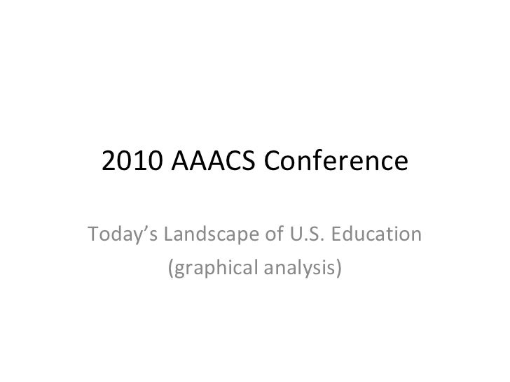 2010 AAACS Conference Today's Landscape of U.S. Education (graphical analysis)