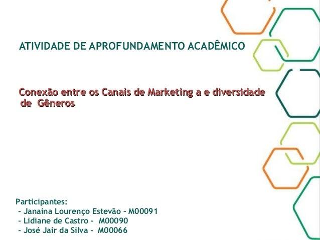 ATIVIDADE DE APROFUNDAMENTO ACADÊMICO Conexão entre os Canais de Marketing a e diversidadeConexão entre os Canais de Marke...