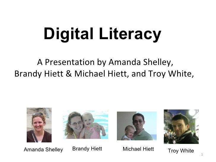 A Presentation by Amanda Shelley, Brandy Hiett & Michael Hiett, and Troy White,  Amanda Shelley Brandy Hiett Michael Hiett...