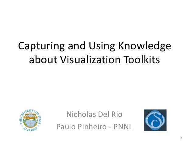 Capturing and Using Knowledge  about Visualization Toolkits         Nicholas Del Rio       Paulo Pinheiro - PNNL          ...