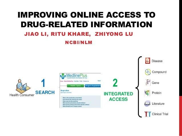 IMPROVING ONLINE ACCESS TO DRUG-RELATED INFORMATION JIAO LI, RITU KHARE, ZHIYONG LU             NCBI/NLM     1            ...