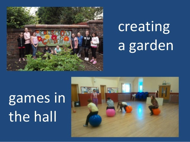 games in the hall creating a garden