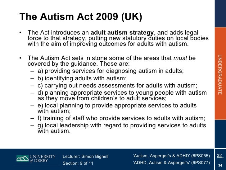 autism treatment for adults