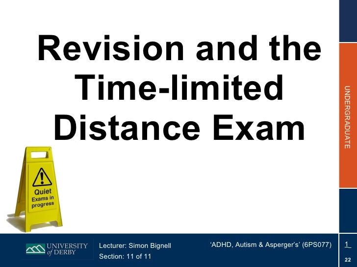 Section 11 (Distance) - Revision and the Exam