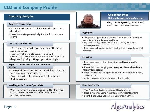 Analytics in Online Retail