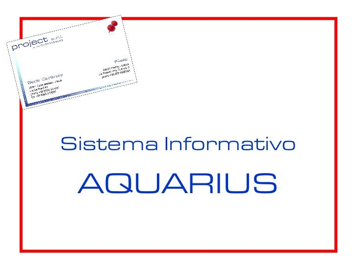 Sistema Informativo AQUARIUS