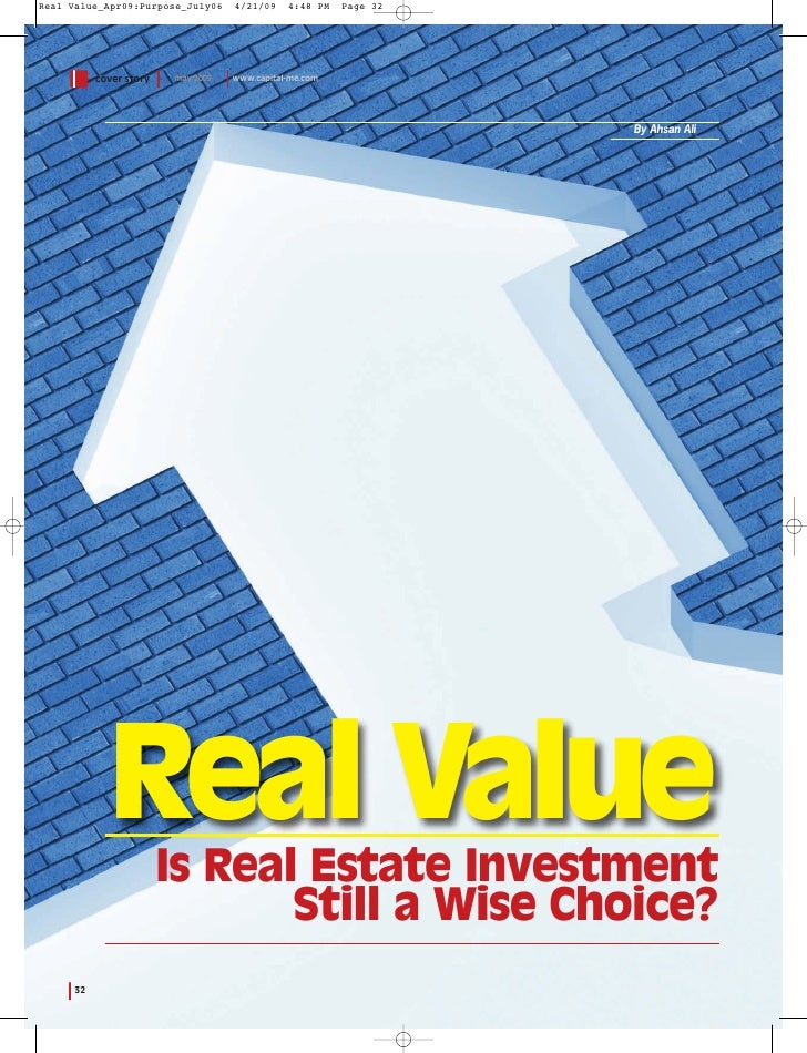 Real Value_Apr09:Purpose_July06     4/21/09    4:48 PM   Page 32                cover story   may 2009   www.capital-me.co...