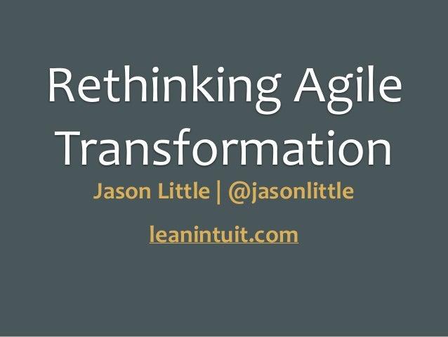 lean change management jason little pdf