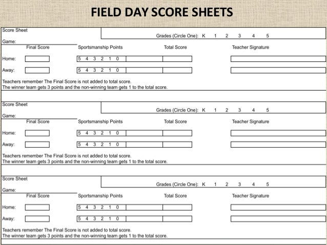 Soccer Rules Sheet: 2015 Field Day
