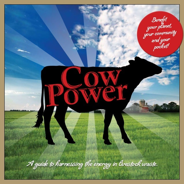 A guide to harnessing the energy in livestock waste. Cow Power Benefit your planet, your community and your pocket!