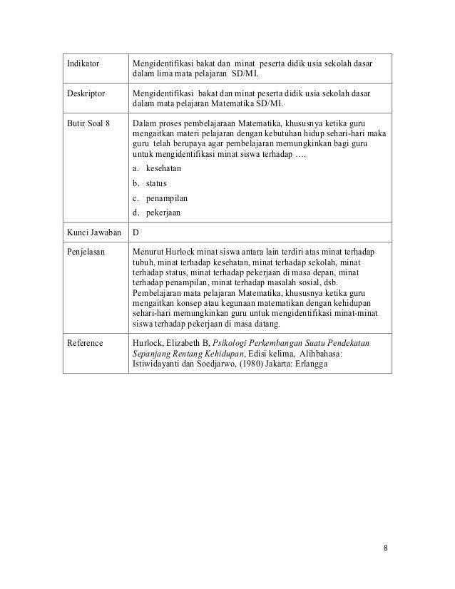 Soal Ujian Kompetensi Pengajar