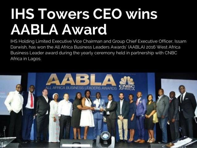 Issam Darwish wins AABLA West Africa Business Leader 2016
