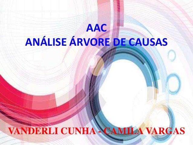 AAC ANÁLISE ÁRVORE DE CAUSAS VANDERLI CUNHA - CAMILA VARGAS