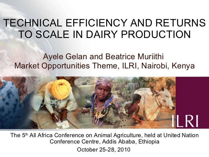 Technical efficiency and returns to scale in dairy production.