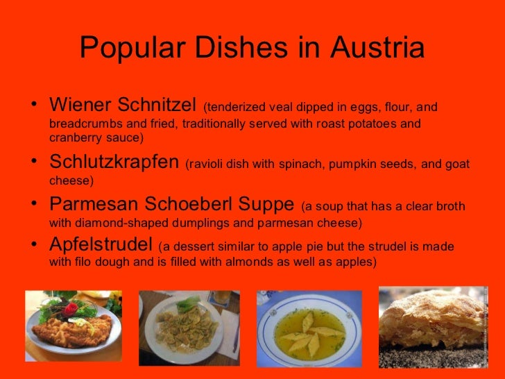 Aac austria powerpoint1 8 popular dishes in austria forumfinder Image collections