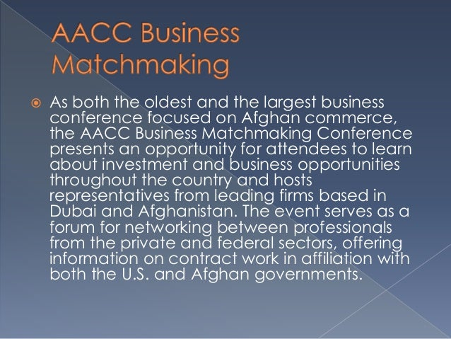 afghan American Business matchmaking Conférence Agence de rencontres Manhattan