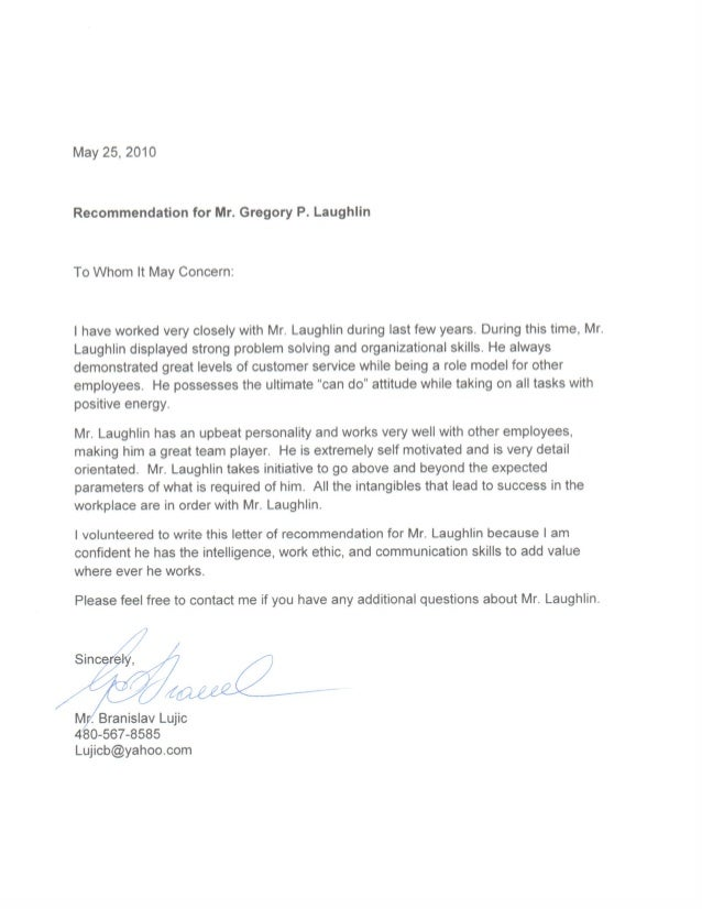 Letter Or Recommendation UOP