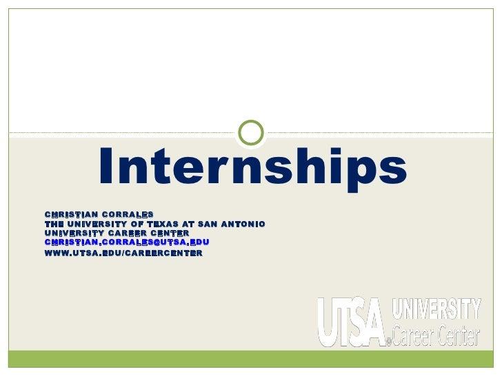 utsa aac 2011 internship presentation