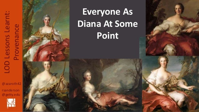 @azaroth42 rsanderson @getty.edu LODLessonsLearnt: Provenance Everyone As Diana At Some Point
