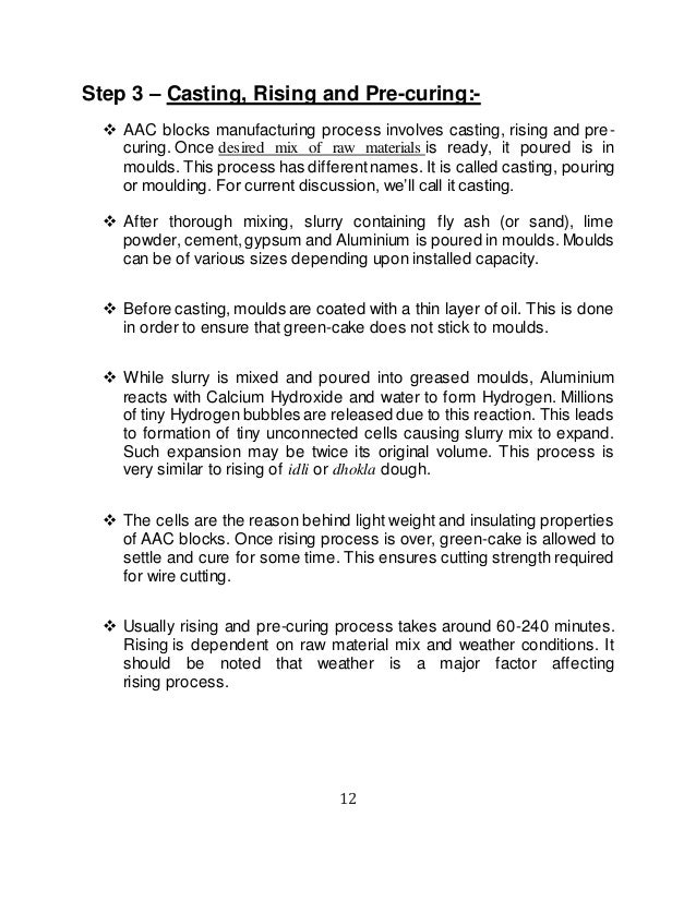 Autoclaved Aerated Concrete Bricks (AAC) Seminar Report