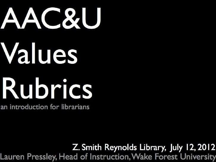 AAC&U VALUE Rubrics