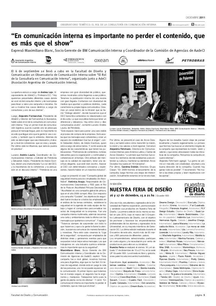 DICIEMBRE 2011                                                          OBSERVATORIO TEMÁTICO: EL ROL DE LA CONSULTORÍA EN...