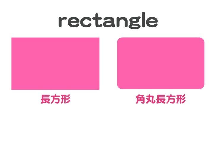 rreeccttaannggllee長方形           角丸長方形