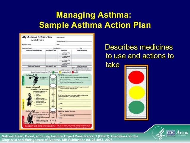 Asthma 14 – Sample Asthma Action Plan