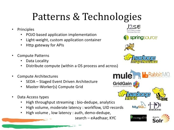 Patterns & Technologies• Principles    • POJO based application implementation    • Light-weight, custom application conta...