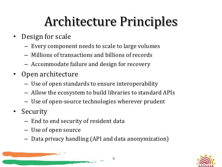 Architecture Principles• Design for scale   – Every component needs to scale to large volumes   – Millions of transactions...