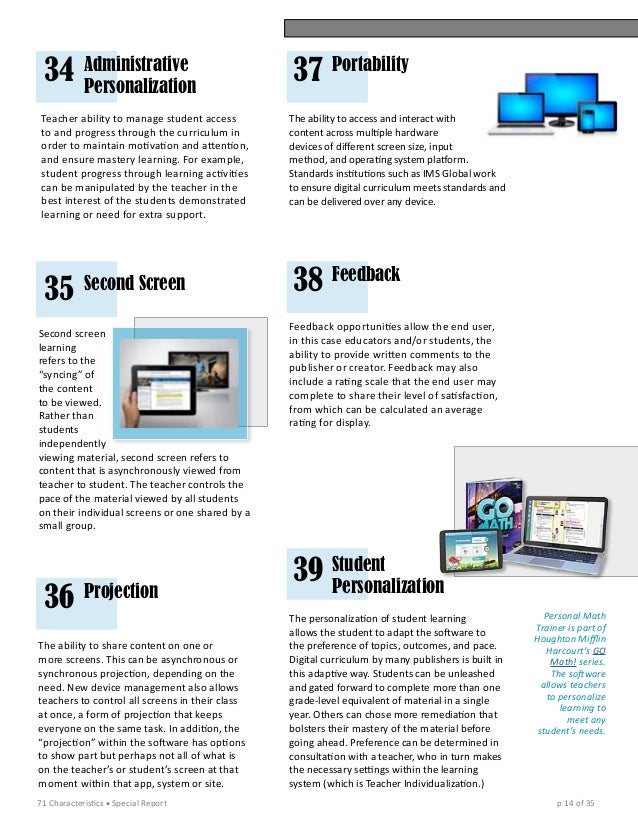 Special report on 71 characteristics of digital curriculum 29 metrics 14 fandeluxe Choice Image