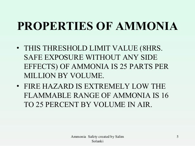 impacts of ammonia What is ammonia ammonia is one of several forms of nitrogen that exist in aquatic environments unlike other forms of nitrogen, which can cause nutrient over-enrichment of a water body at elevated concentrations and indirect effects on aquatic life, ammonia causes direct toxic effects on aquatic life.