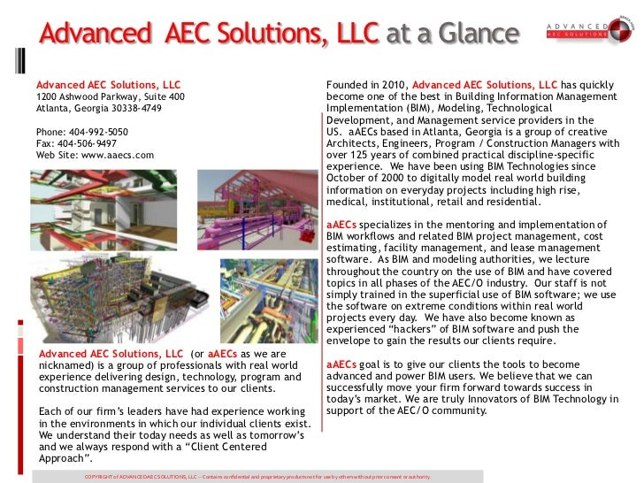 Advanced AEC Solutions, LLC at a GlanceAdvanced AEC Solutions, LLC                                                        ...