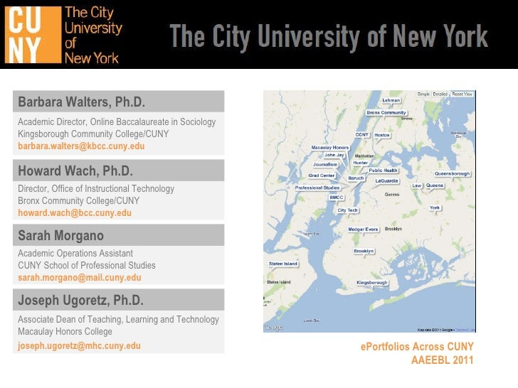 ePortfolios Across CUNY on