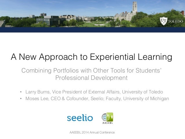 AAEEBL 2014 Annual Conference Combining Portfolios with Other Tools for Students' Professional Development ! A New Approac...