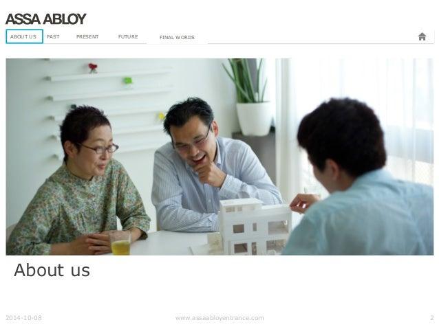 ASSA ABLOY Entrance Systems presentation about their BIM journey Slide 2