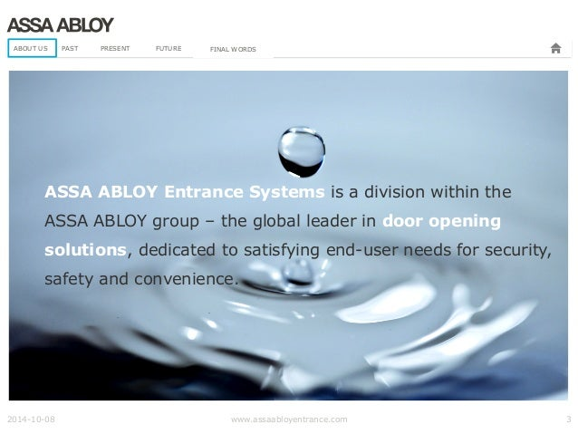 ASSA ABLOY Entrance Systems presentation about their BIM journey Slide 3