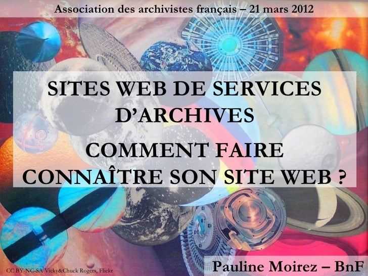 Association des archivistes français – 21 mars 2012              SITES WEB DE SERVICES                    D'ARCHIVES      ...