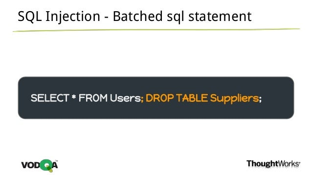 Security testing zap it - Sql injection drop table example ...