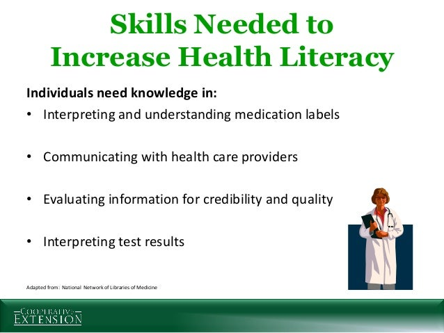 cooperative extension u0026 39 s national focus on health literacy