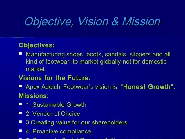 mission vision and objectives of reliance company ltd Our mission: to deliver superior  vision and values our vision  spontaneous and relentless pursuit of goals and objectives with the highest level of energy and.