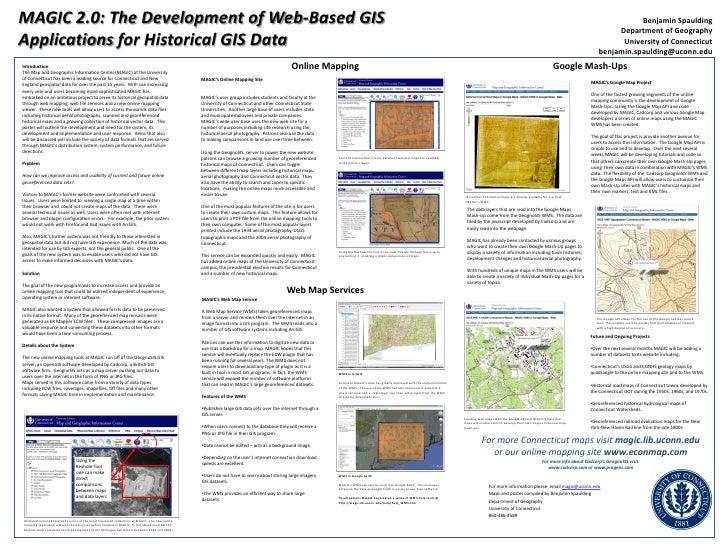 MAGIC 2.0: The Development of Web-Based GIS <br />Applications for Historical GIS Data<br />Benjamin Spaulding<br />Depart...