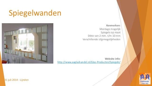A a glashandel presentatie spiegels - Badkamer presentatie ...