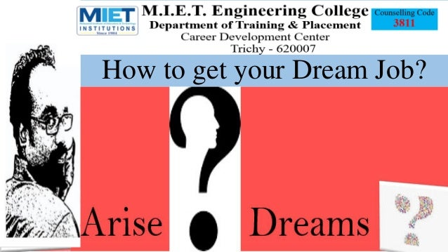 How to get your Dream Job?