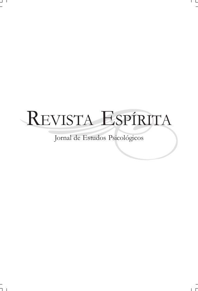 REVISTA ESPÍRITA Jornal de Estudos Psicológicos