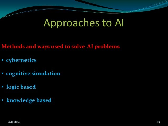 approaches to knowledge representation in artificial intelligence pdf