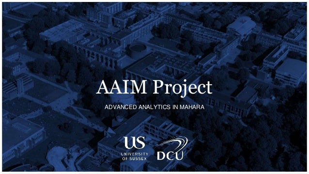 ADVANCED ANALYTICS IN MAHARA AAIM Project
