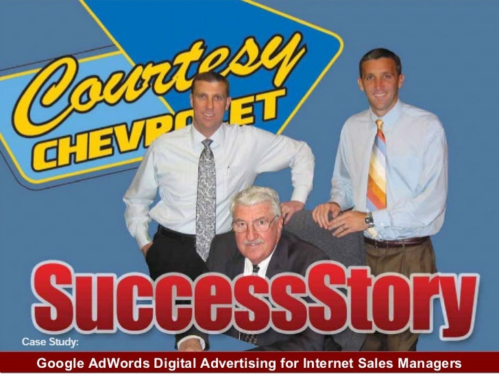 Google AdWords Digital Advertising for Internet Sales Managers
